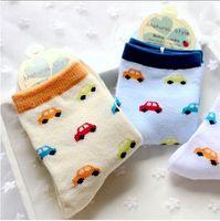 animation cars - Cute cartoon animation candy car cotton boys and girls socks WZ00236