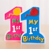party happy birthday - Happy Birthday Party Candle Color Number Baby st Birthday Candle Cake Accessory for Sale SD935