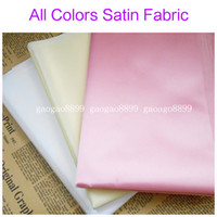 Wholesale New High Quality Satin Dress Fabric Wedding Evening Gown Skirt Table Cloth More Colors Bridal Accessories