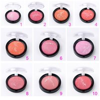 baking powder products - Colors Women Makeup Blush Face Blusher Powder Palette Cosmetics Highlights baking Makeup Product AHJ1060W