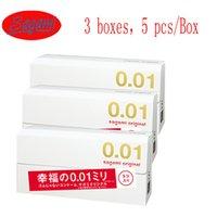Wholesale Boxes Sagami Mode Ultra thin Condom mm Polyurethane Colourless Condoms Pleasure Me Sex product