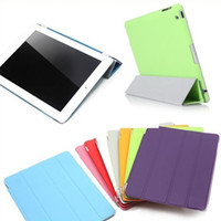 Wholesale Luxury Pu leather Flip stand smart Cover and matte back case for iPad Mini retina air ipad support mix