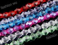 Precio de Mixed crystal beads-Caliente ! Mezcla de color de Cristal biselado Bicone Perlas de 4mm / 6mm/ 8mm Suelta perlas de la Joyería de BRICOLAJE
