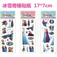 Wholesale 2015 new Design children Cute FROZEN character PVC Three Dimensions Cartoon Scrapbook Stickers Children s Gifts Hot Sale