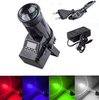 Wholesale RGBW Black cover W Cree lamp in1 LED Pinspot Light DMX control c club Disco DJ Party stage lighting