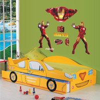 bedroom furnishings - bedroom decoration Iron Man children s room wall stickers decorative home furnishings hero cartoon stickers wall stickers tape AY9068