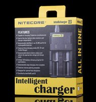 Wholesale NITECORE Intellicharger i2 Universal Charger for Battery E Cigarette Li ion Ni MH Ni Cd battery charger Factory Sale