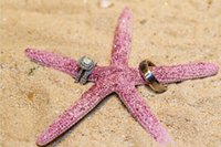 wedding rings - Luck Starfish Beach Wedding Decorate Wedding Ring Pillow Cheap In Stock
