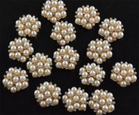 Wholesale Dia mm Manual Hair accessories Material Pearl Faceplate Drill Buckle Alloy Jewelry for DIY Clothing Buttons Headdress