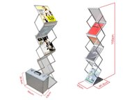 brochure holder - Aluminum Folding Brochures Pamphlets Books Literatures Display Holders Rack Stand By Faces To Show Quality Guaranteed