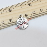 Wholesale 120Pcs Tibetan Silver Plated Tree of Life Charms Pendants Jewelry Craft Making Handmade Floating Charms x15mm