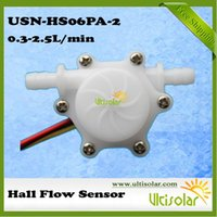 Wholesale Small Flow Hall Water Flow Sensor a USN HS06PA LPM mm OD Hose Barb Plug Ultisolar New Energy