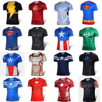 active ride - Short Sleeve High Elastic Fast Dry Tops Superman Batman Spider Man Super Hero Shirts Water Proof Sport Riding Outdoor Tops shirts for men