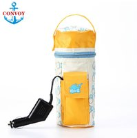 Wholesale 2015 NEW Portable DC V in Car Baby feeding Bottle Heater Portable Food Milk Travel Cup Warmer Heater