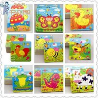 Wholesale 10pcs puzzle wood child wooden Jigsaw puzzle Educational Toys