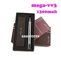 Cheap AAA quality ego vv3 mod ecigarette battery v v3 mega variable voltage battery 1300mah with Led display ego free shipping by DHL