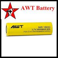 Cheap 18650 Battery 2600mAh 40A High Drain Lithium Batteries 3.7V Flat Top Fitting Sigelei Fuchai 200W RX 200W Box Mod VS LG HG2