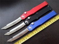 Wholesale MICROTECH Custom HALO V T E Full size satin Plain knife Tanto Edge single action Tactical knives with original box