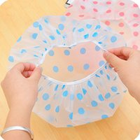 baked band - Plastic Shower Caps Cartoon Print Waterproof Elastic Band Bathing Hat Caps