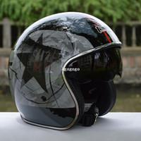Cascos de carreras de la vendimia Baratos-Casco envío capacetes casco de motocicleta Tanked que compite con la cara abierta del casco Jet Casco Chopper hombre vetro vendimia de las mujeres