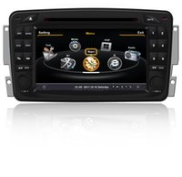 OEM pour Mercedes-Benz Classe C 2000-2003 W203 Lecteur DVD de voiture avec navigation GPS (carte gratuite) Radio (AM / FM) Système stéréo Bluetooth