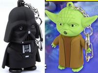 Wholesale Star Wars Galactic BattleGrounds Saga Darth Vader Jedi LED Luminous keychain