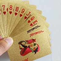 Wholesale Poker Gold Foil Plated Playing Cards K Gold Bridge US Dollar Style Plastic Poker