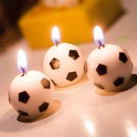 Wholesale 3pcs Kids Children Favor Birthday Cake Decor Football Birthday Candles Fashion Party Themes Candle Decoration