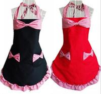 cotton apron - New Arrive Cotton Cloth Apron Korean Avental Fashion Pink Striped Kitchen Apron Beauty Lovely Delantal Princess Aprons