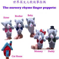 animal rhymes - 6pcs set Story Telling Finger Puppets Nursery Rhyme Fairy Tale Aussie Animals Cat Finger Family Christmas gifts vb6