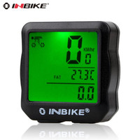 Wholesale INBike Bicycle Computer Waterproof Bike Speedometer Wired Multi Function LCD Digital Odometer LED Backlight Accessories