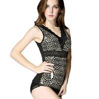 Cheap Women Lace Thermal Body Shaper Womens Fleece Thicken Vest Underwear Slimming For Girls Shapewear JacquardFree shipping