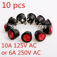 Wholesale NEW Red LED Dot Light Car Boat Round Rocker ON OFF SPST Switch Prong Red LED Rocker Switch order lt no track