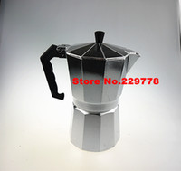 Wholesale 9 cups aluminum High quality Stovetop coffee maker moka pot Espresso latte coffee pot stainless steel moka coffee machine