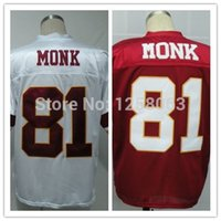 art jerseys - Factory Outlet Christmas Clearance Sale Art Monk White Red Men s Throwback Football Jerseys Size Mix order