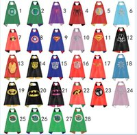 capes - Double Side kids Superhero Cape Superman Batman Spiderman Ninja Turtles Captain America Supergirl kids capes in stock DHL free