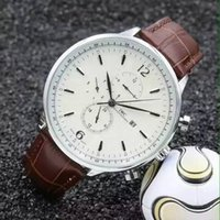 mechanical stop watch - 2015 Mechanical Hand Wind Movement Leather Watchband Clock Waterproof m Auto Date Stop Watch Mens Watches top Brand Luxury