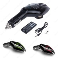 Wholesale LCD Vogue Car Kit MP3 Player Wireless FM Transmitter Modulator w Remote USB TF Drop Shipping