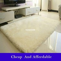 beige shaggy rugs - New Fashion Flokati Shaggy Seatmat Carpet Beige Rug Anti skid Carpets Fit for Living Room And Bedroom Soft Carpet cm