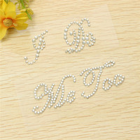 Wholesale Hot Sale Modern Style I Do and Me Too Set Wedding Accessory Bridal and Groom Shoes Sticker Rhinestone Applique Wedding Decal order lt no tra