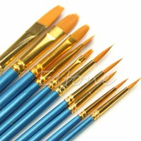 acrylic paint artist - C18 Artists Paint Brush Set Acrylic Watercolor Round Pointed Tip Nylon Hair