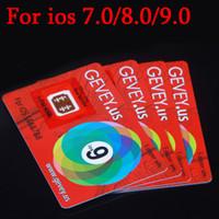 Wholesale New gevey for iOS Newest E paper Sim Gevey Sim Card for iPhone S Plus S Gevey unlock all phones