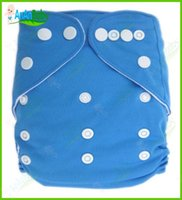 Wholesale One Size Cloth Diaper Without Insert Reusable Nappies Solid Color Baby Cloth Diaper
