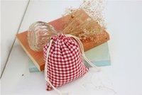 Wholesale Plaid Printing Lady Handbag Organizers Factory Direct Cotton Drawstring Cosmetic Bags for Travel Fashion Women Organiser Bag