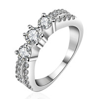 Wholesale 2015 New Sterling Silver Ring Jewelry Top Quality Rhinestone Ring size