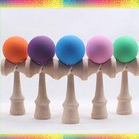 Wholesale CM Color Elastic Paint Wooden Kendama For Children Adult Ideal Educational Toys