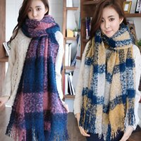 knitting fur scarf - Winter Scarf Wool Thick Cotton Scarf Charms Infinity Long Brand Knit Scarves for Women New Dhl size cm A664