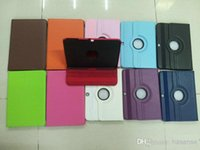 Wholesale PU Leather Folio Case Cover with Stand holder rotating cases smart cover for Samsung Galaxy Tab P5200 P5220