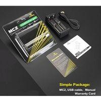 Wholesale Original Xtar MC2 Charger Dual Slot Intelligent Battery Charger V DC mAh Applys Battery