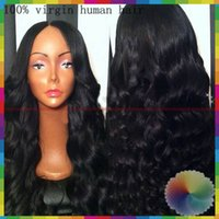 brazilian full lace wig - 100 Brazilian full lace wig body wave Virgin Human Hair Full lace wig Glueless Lace Front Wig Baby Hair in Stock